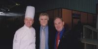 Pierre Orsi, Guy Bardel, et Gabriel Paillasson le Président de la coupe du monde de la pâtisserie...