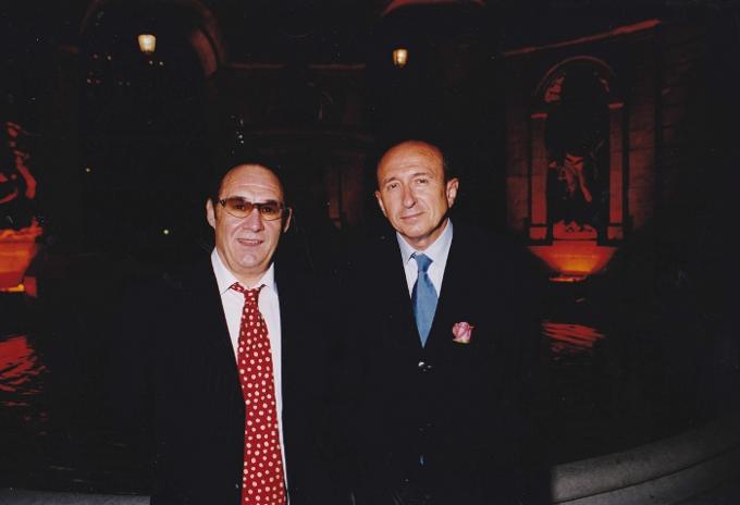 Guy Bardel et le Maire de Lyon Gérard Collomb